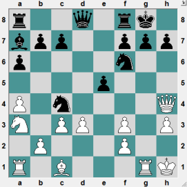 69th Russian Higher League Kolomna 2016.6.25 Bocharov, Ivan--Kurbedinov, Ramis. Position after 16 moves. White to play and CRUSH!