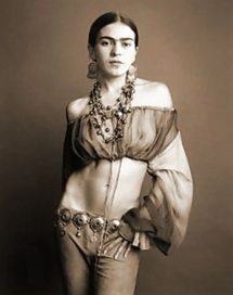 The amazing Frida Kahlo, 1907--1954, Mexican artist and one of Mexico's icons even today. Strong as nails.