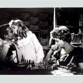 Lolita! Nabakov's forbidden fruit. From Stanley Kubrick's film adaptation of the book. Lesson to be taken: don't get too involved in your game of chess as you might miss a lot of interesting things that are happening about you!