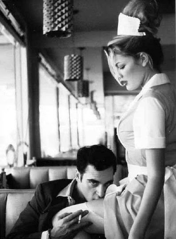 If the coffee is GREAT, then show your appreciation to the waitress serving  you  (Joaquin Phoenix by Helmut Newton)